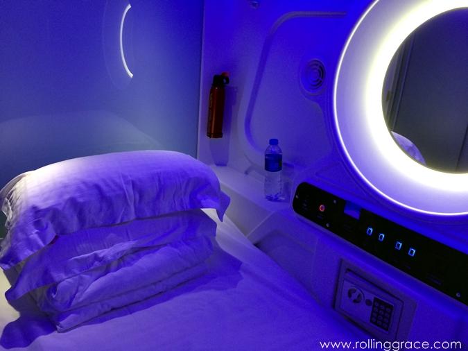 inside a capsule hotel