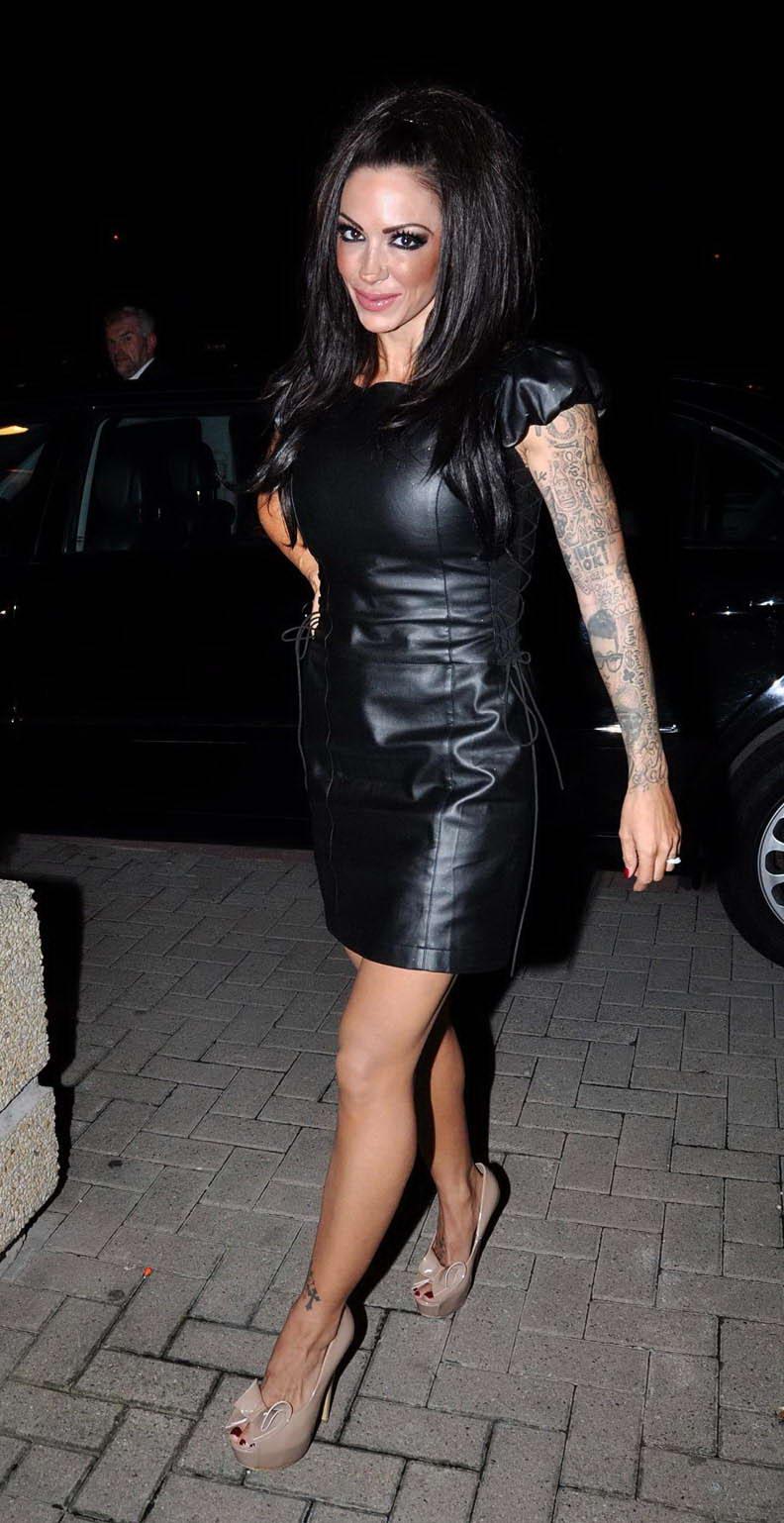 News Feed: Jodie Marsh in Black Leather Dress