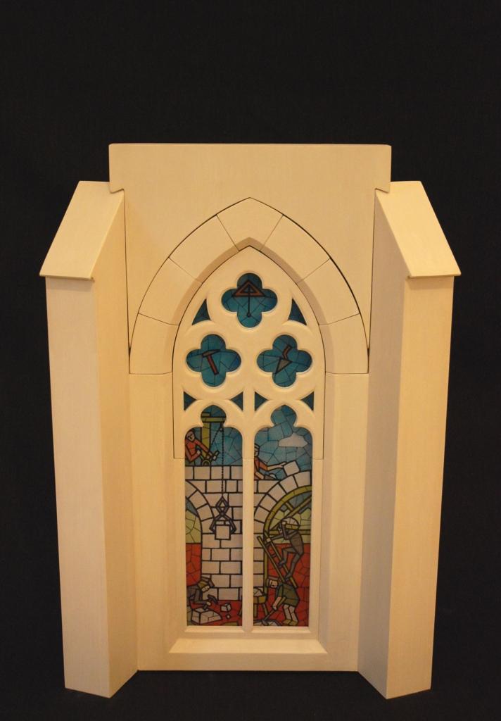 Monumental r duit fen tre remplage gothique for Fenetre gothique