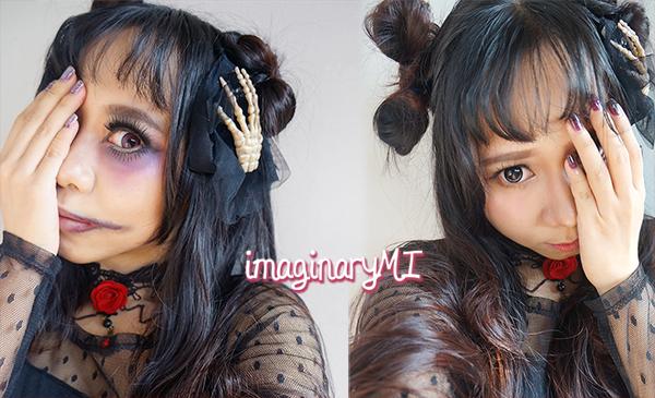 Halloween makeup gothic lolita