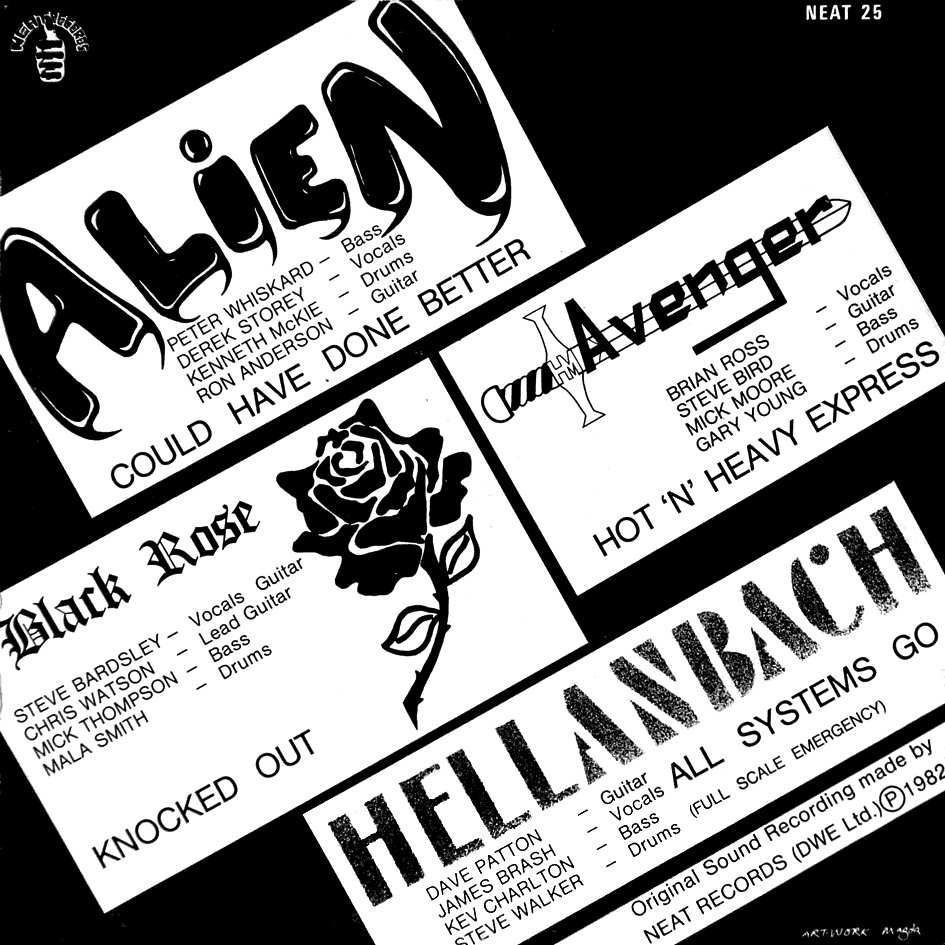 Alien, Avenger, Black Rose, Hellanbach One Take No Dubs 1982