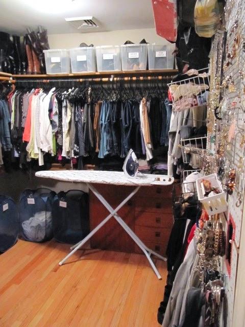 closet organizing peg board wall