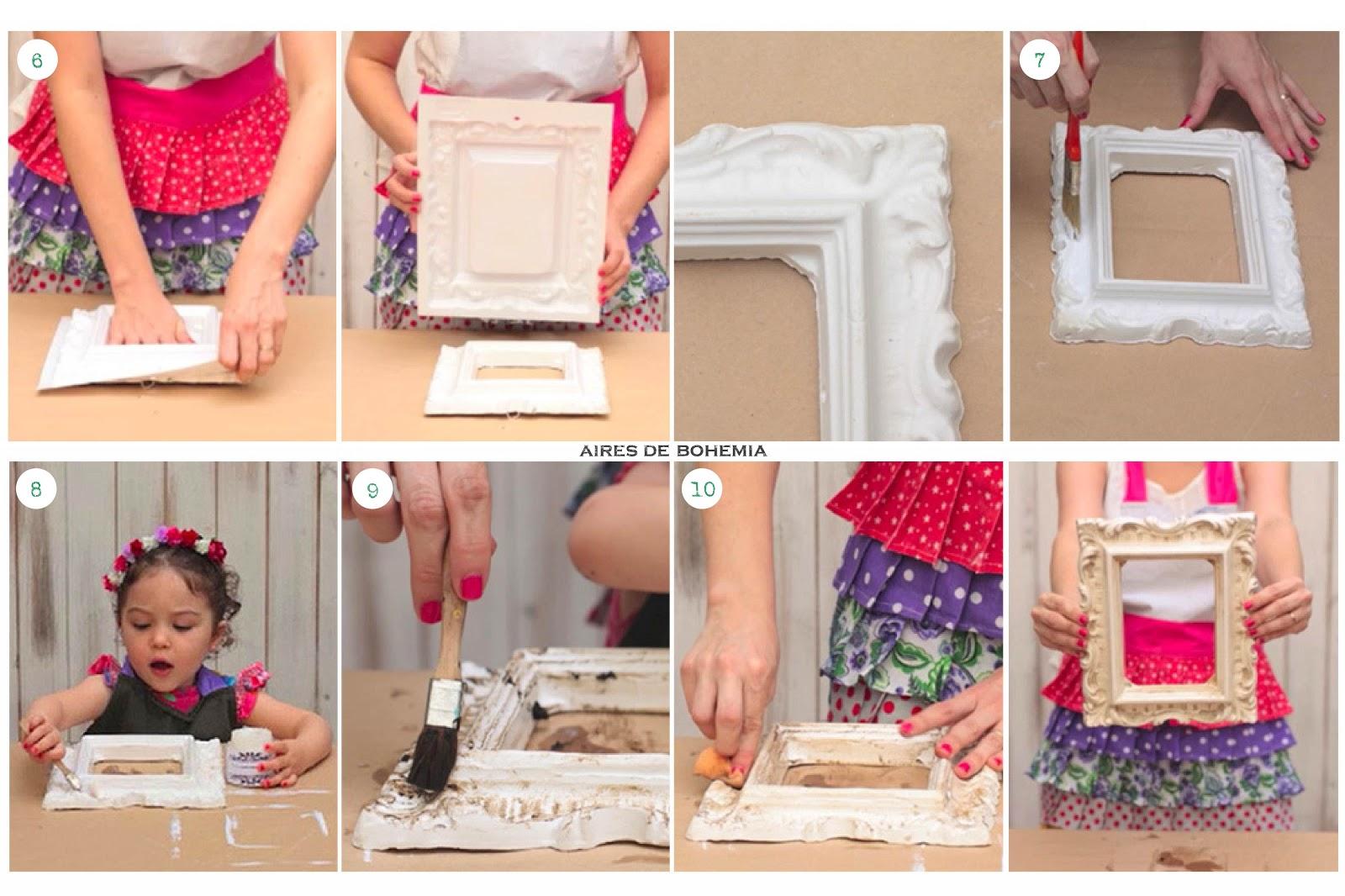 Diy marco vintage de yeso aires de bohemia - Diy marcos para fotos ...