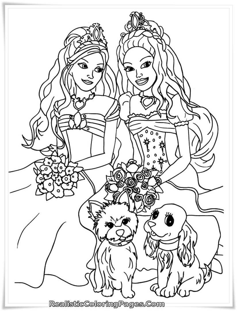 Free Coloring Pages Of Barbie And The Diamond Castle