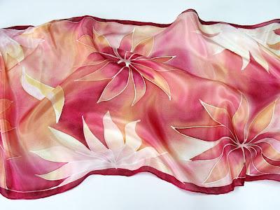 Ajándék ötletek Anyák napjára - kézzel festett selyem kendők, sálak