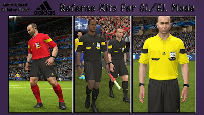 PES 2014 Adidas Referee Kits For CL & EL Mode By Hawke