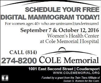 9-7/10/12 Free Mammogram