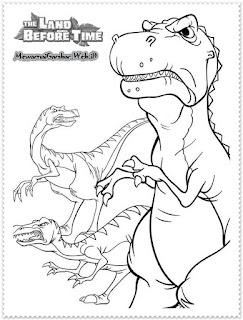 mewarnai dinosaurus predator