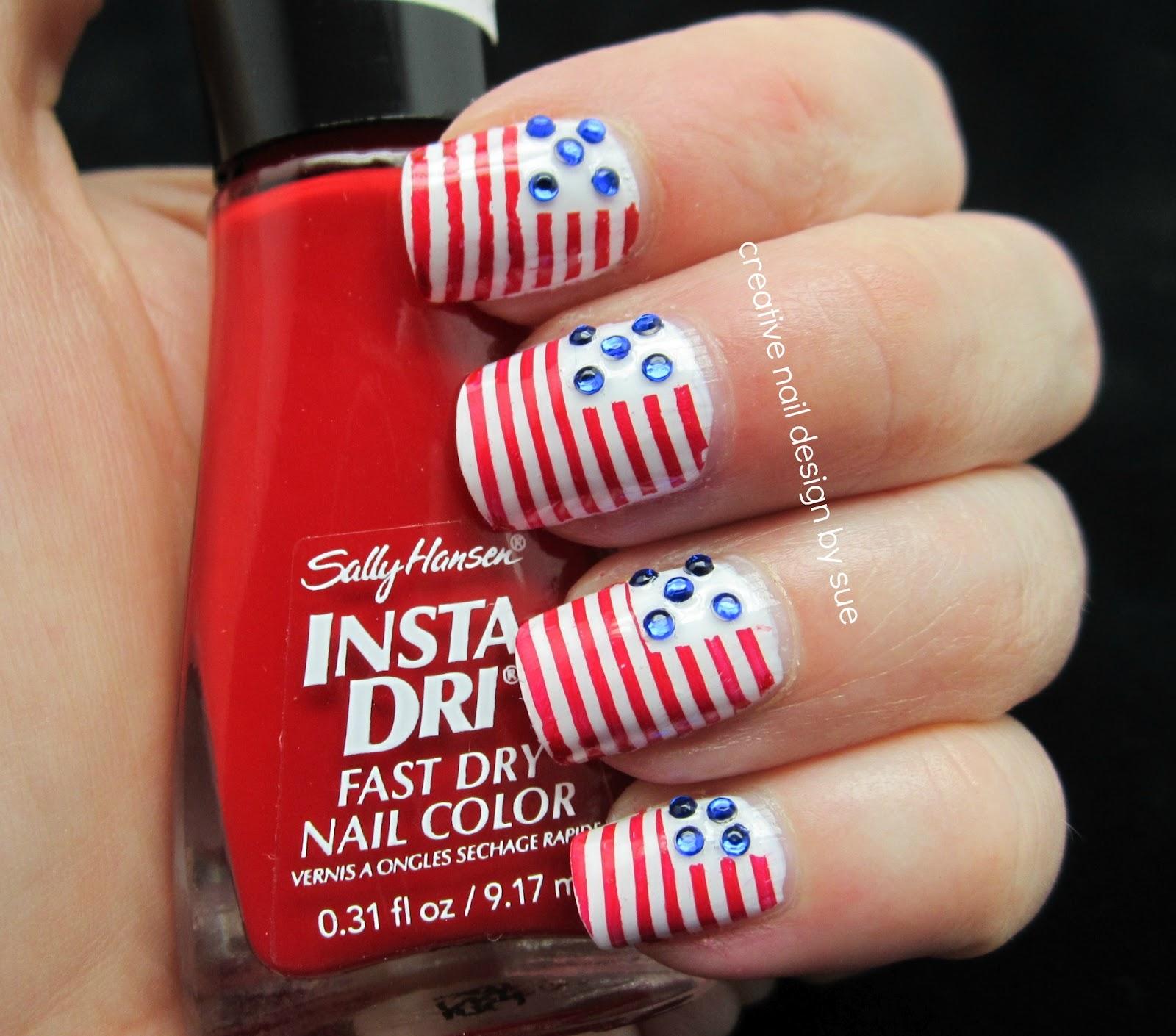Creative Nail Design By Sue Memorial Day Nails