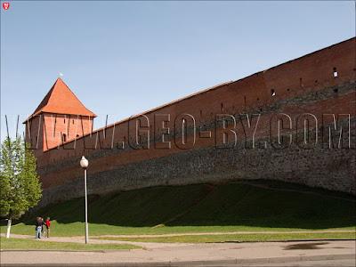Стена замка Гедимина в Лиде