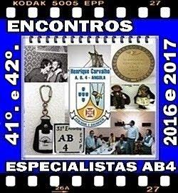 41º e 42º - ENCONTROS DOS ESPECIALISTAS DO AB4 - 2016 a 2017