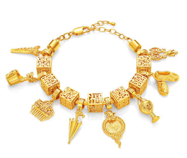 Golden Delights Charms Bracelet