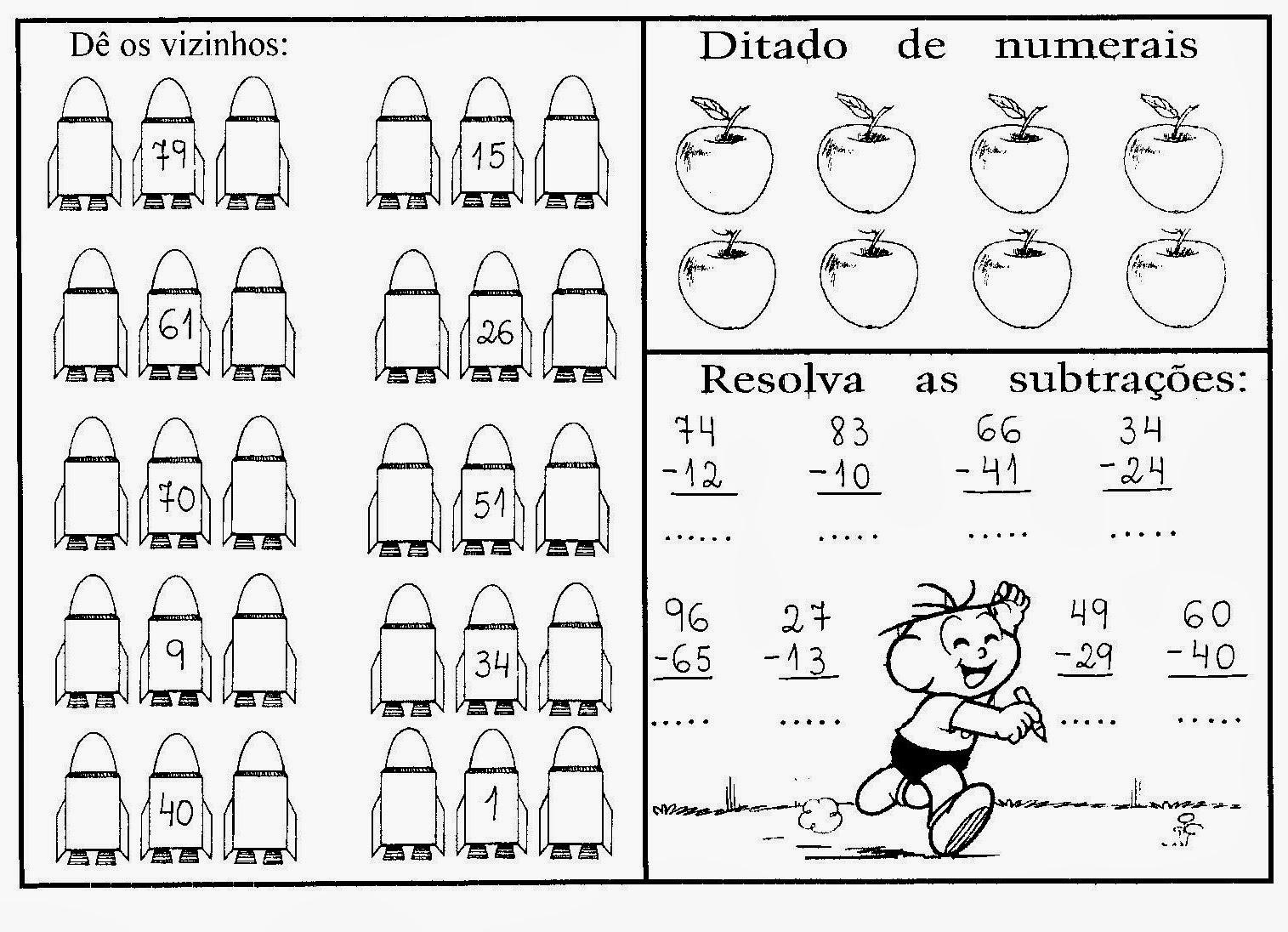 Favoritos Atividades de Matemática para Imprimir | Classificados de Links FN69