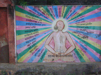 meditation wall painting, Agra, India