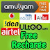 Free Mobile Recharge using Amulyam,Embeepay,Way2sms,ULtoo