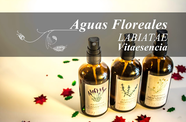 Vitaesencia: Aguas florales de Labiatae: Manzanilla, Lavanda y Romera.