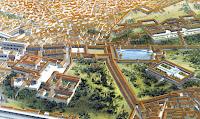 El gran palacio de Nerón, con sus ochenta hectáreas, comprendía jardines, fuentes, pabellones y un lago, además de trescientas habitaciones decoradas con gran lujo.