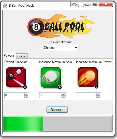Facebook 8 Ball Pool Multiplayer Hack Tool Cheat Engine 2013 Features: