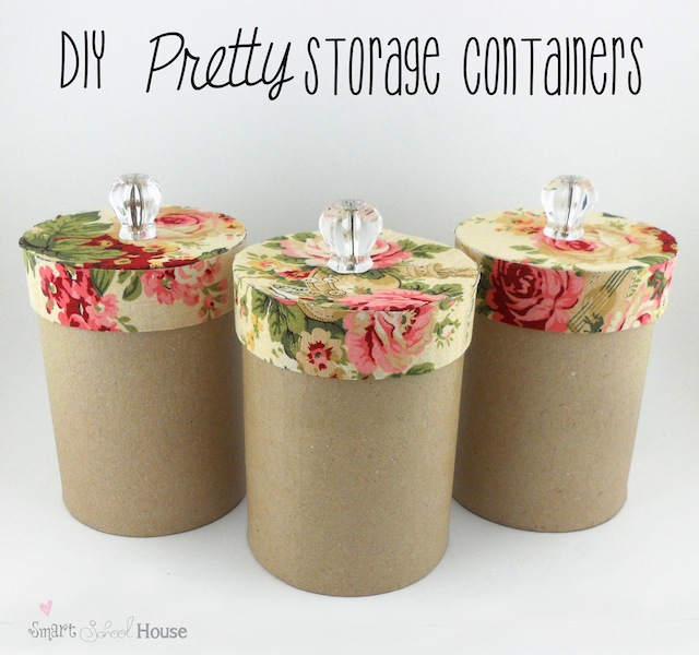 Diy pretty storage containers craft o maniac for Paper containers diy