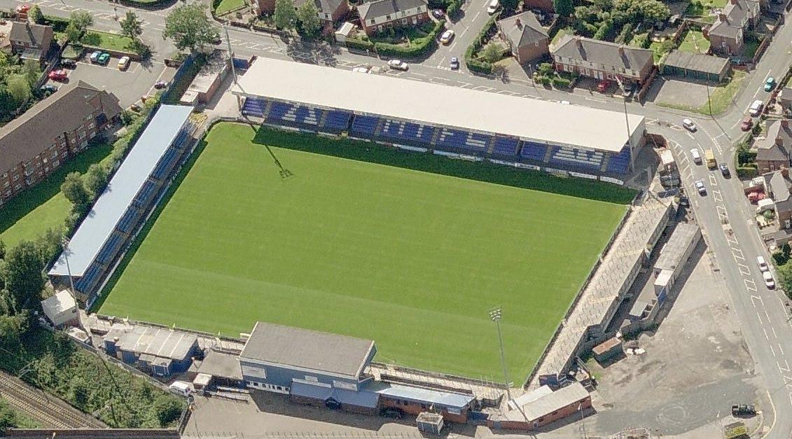 Moss Rose Stadium Aerial shot of.