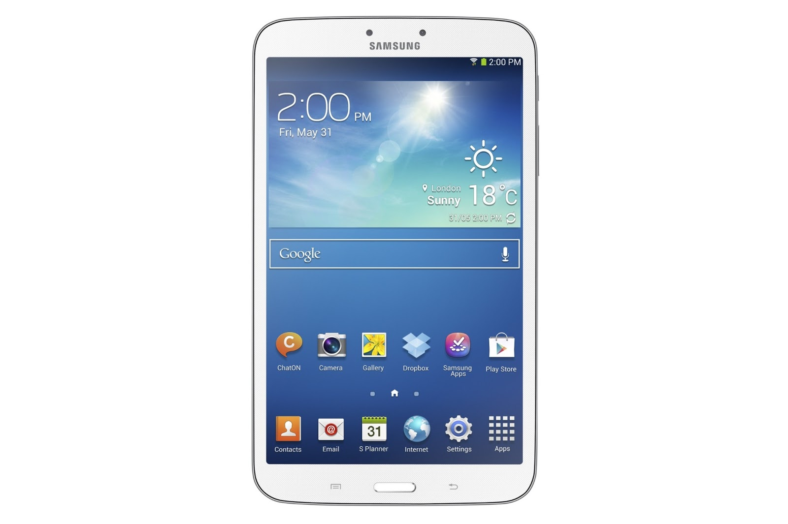 .The Galaxy Tab 3  with 8 inches