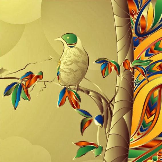 pájaro de terciopelo - vector