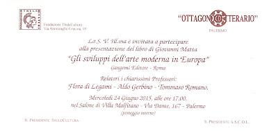 Presentazione del libro di Giovanni Matta Gli sviluppi dell'arte moderna in Europa