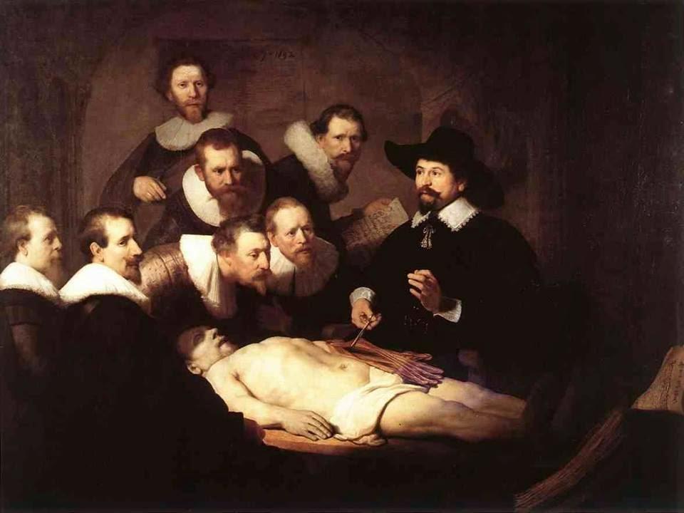 """Rembrandt y """"La Lección de anatomía del Dr. Nicolaes Tulp ..."""