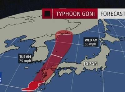 TIFON GONI GOLPEA SUR DE JAPON