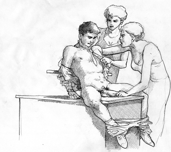 Wench male slave roman bdsm drawing her