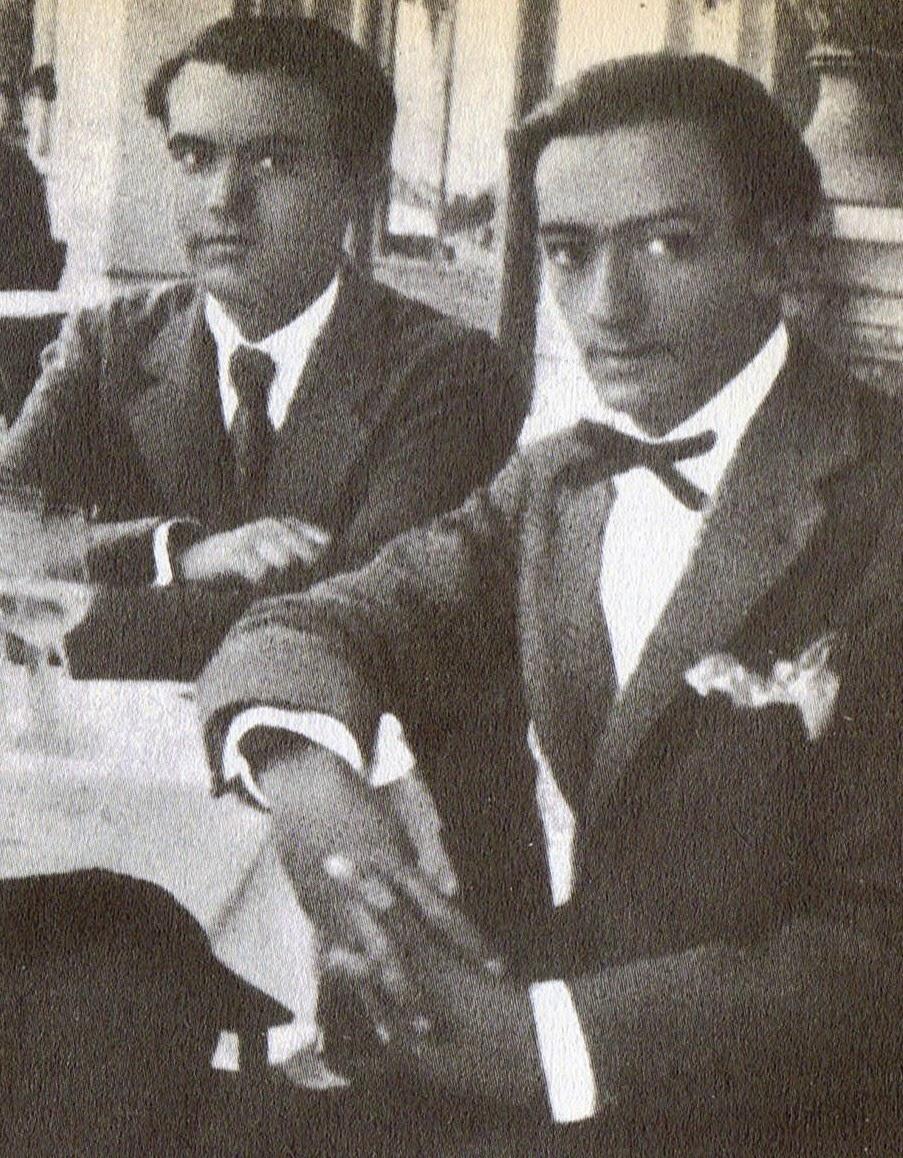 Lorca con Dali en Barcelona en 1927