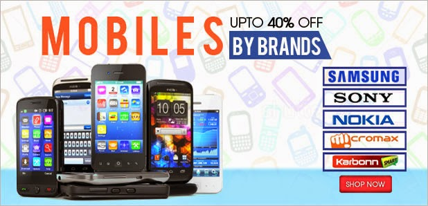 UPTO 40% OFF ON ALL BRANDED MOBILES