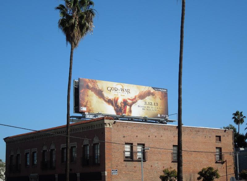 God of War Ascension video game billboard