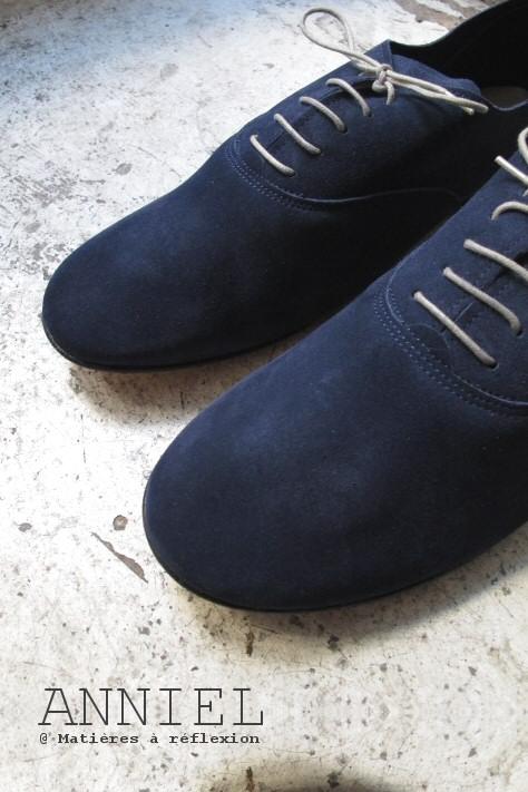 Derbies Homme anniel daim bleu jean