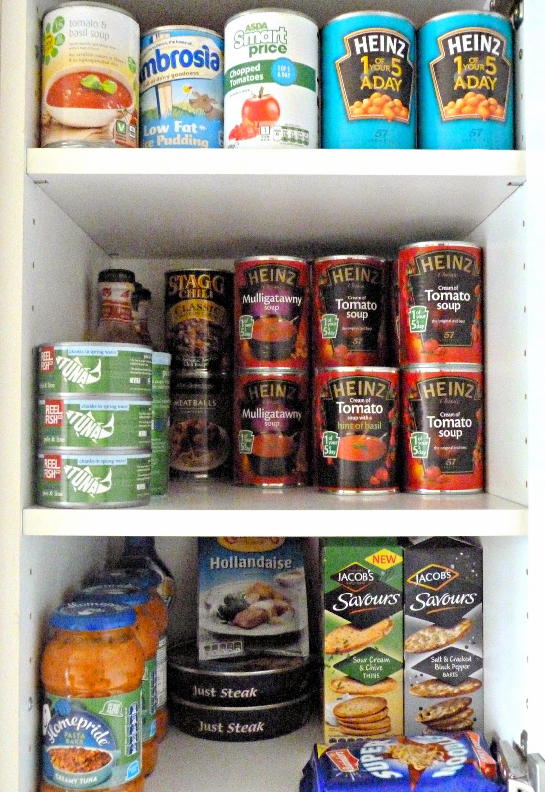 T's tidy food cupboard
