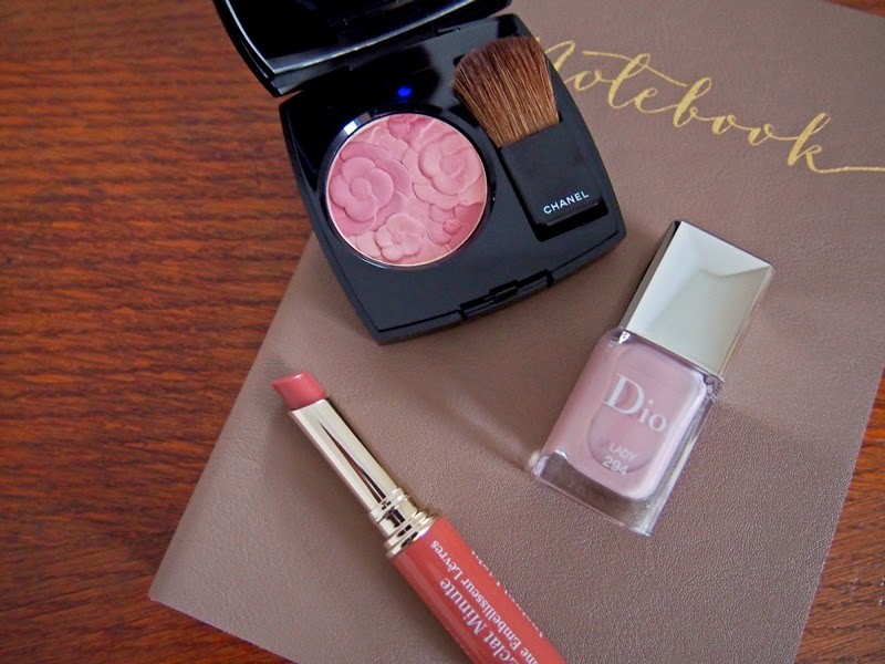 beauty products on notebook