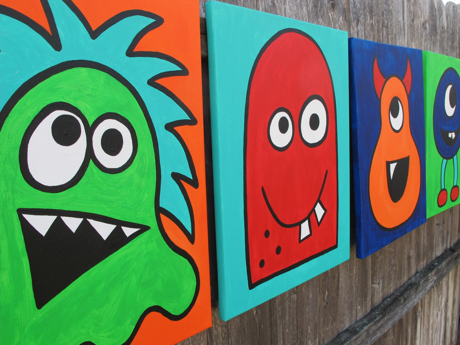 canvas art collection, a colorful monster collection and a kids ...