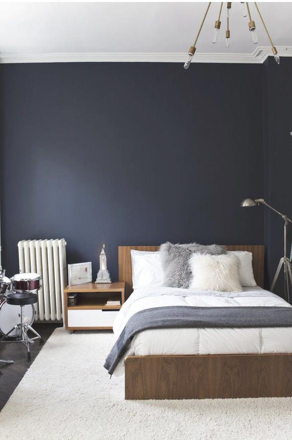 Johanna Gilan Pinspiration Mörkblå sovrum