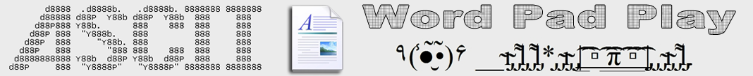 ASCII Word Pad Play