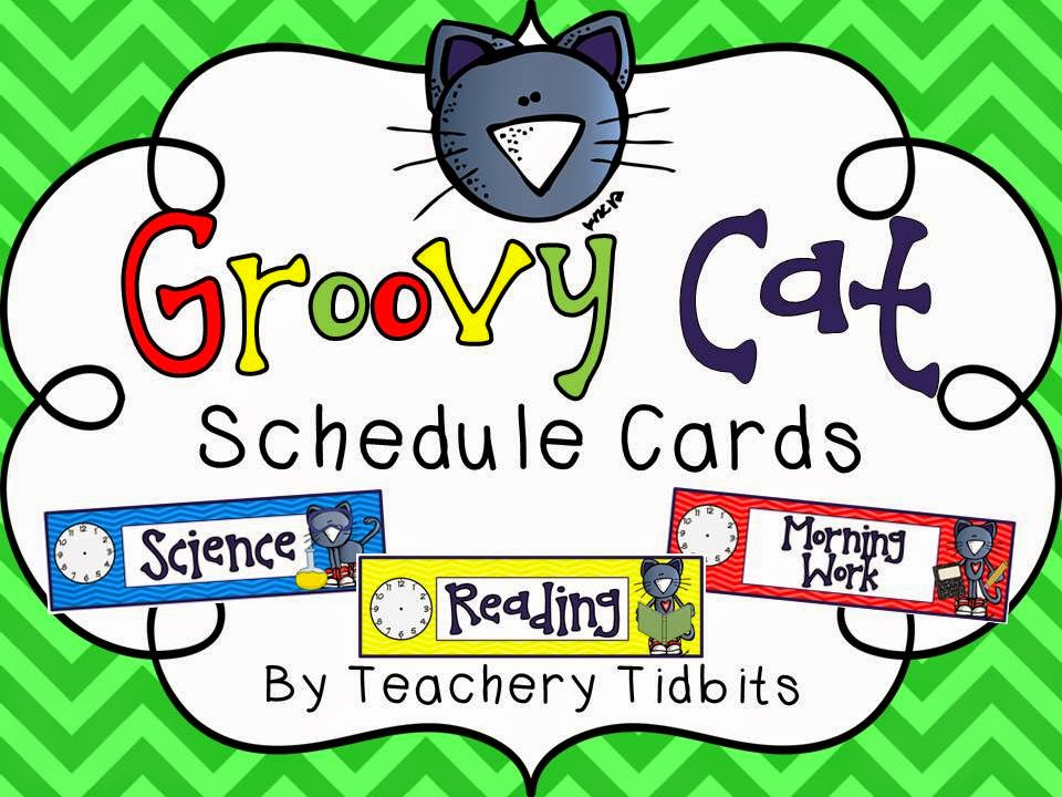 http://www.teacherspayteachers.com/Product/Groovy-Cat-Themed-Schedule-Cards-1265709