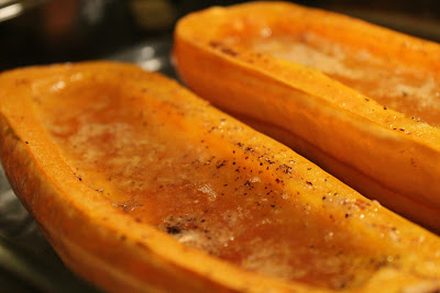 Ginger-maple baked delicata squash