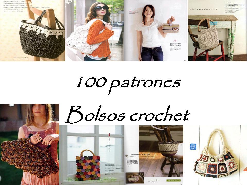 REVISTAS DE MANUALIDADES GRATIS: 100 Patrones de bolsos a crochet