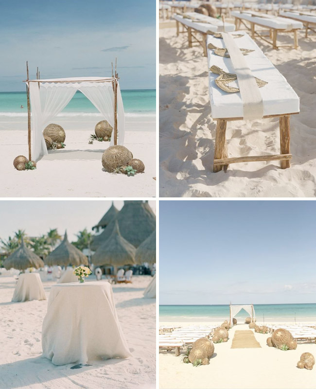 work is nothing short of amazing and this beach wedding she styled is no