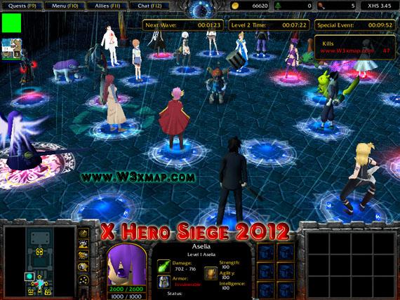 x hero siege map download