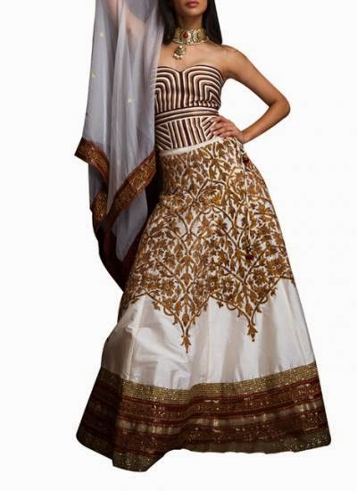 Cream Eight Kali Lehenga | Indian Designers | Indian Designer Dress