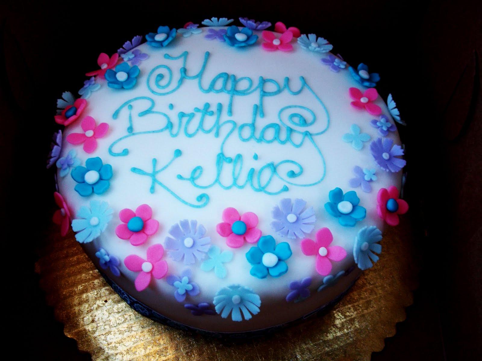 bite size me: Kellie's birthday cake!