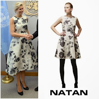 NATAN Dress and CHRISTIAN LOUBOUTIN Pumps - Queen Maxima Style