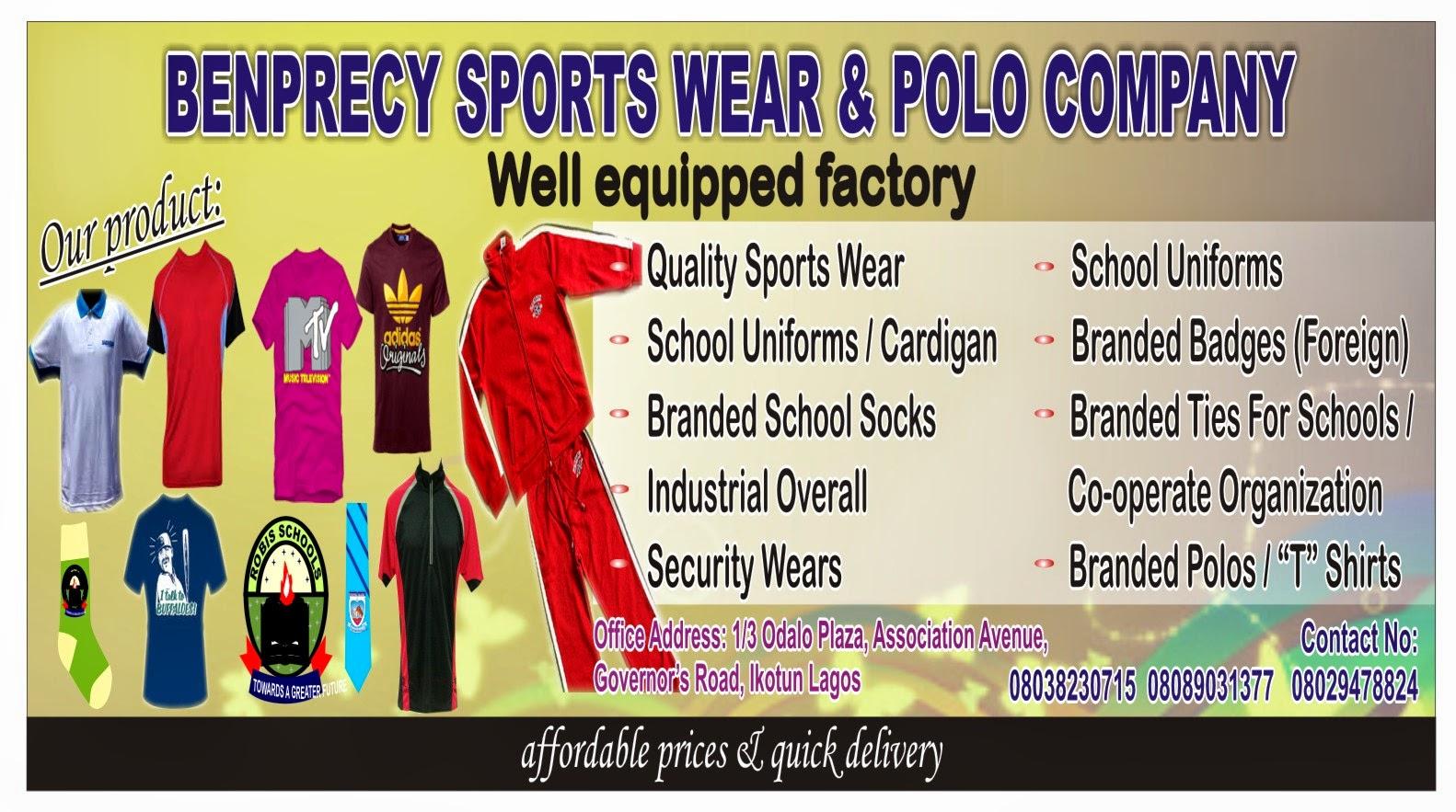 BENPRECY SPORTS WEAR & POLO COMPANY
