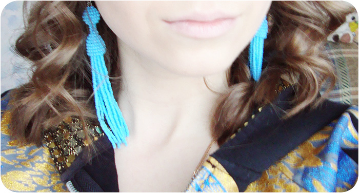 Handmade, Earrings, Tassel, Beaded, Beads, Earrings Tassel Beaded, Beaded Tassel Earrings