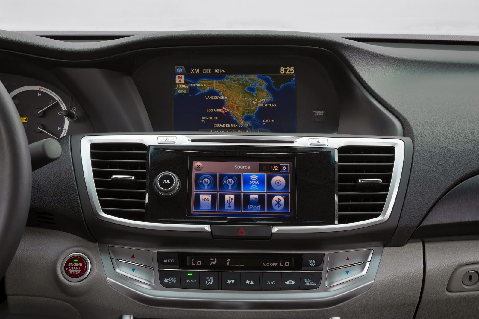 Navigation and audio system for 2015 Honda Accord